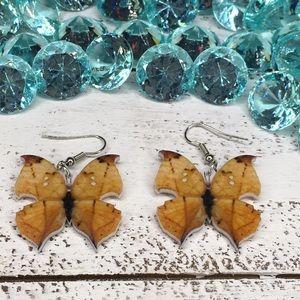 Kallima Inachus Acrylic Butterfly Earrings